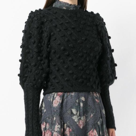 6055970e66b 🔥🔥Black pom pom knit jumper from Zimmermann NWT